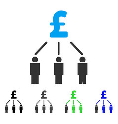 Pound crowdfunding flat icon vector