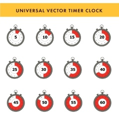 Set of simple timers vector image vector image