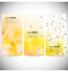 Set of vertical banners Orange triangle design vector image