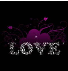 shining love vector image vector image