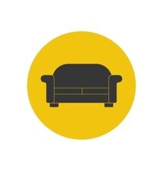 Sofa silhouette vector image vector image