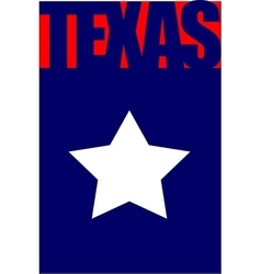 Texas state flag vector