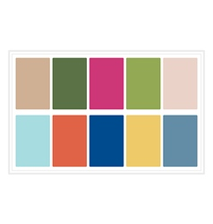 Palette colors spring 2017 without name vector