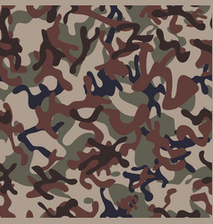 Multiterrain woodland camouflage seamless patterns vector