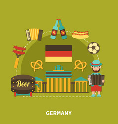 Germany sightseeing travel composition vector