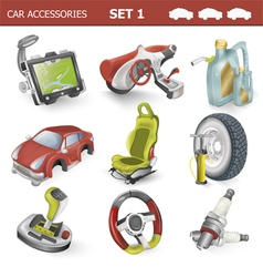 Car accessories vector