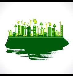 Creative design go green or save earth design vector