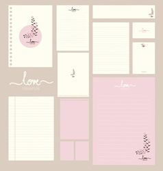 Collection of various paper designs paper sheets vector
