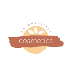 Abstract logo for cosmetics and beauty vector