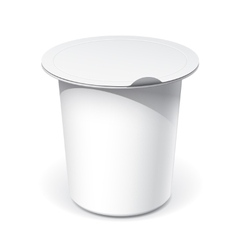 Realistic white blank plastic container for food vector