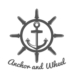 Retro vintage nautical label and badge logo vector