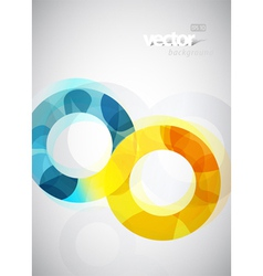 Abstract circles vector