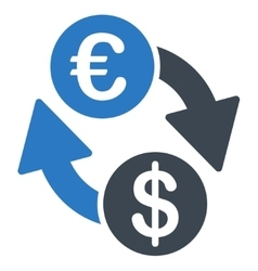 Coins exchange icon vector