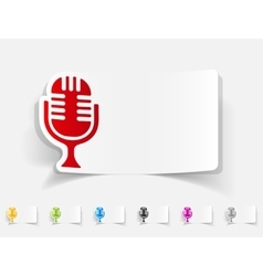 Realistic design element microphone vector