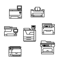 Printer icons vector