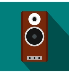Brown speaker icon flat style vector