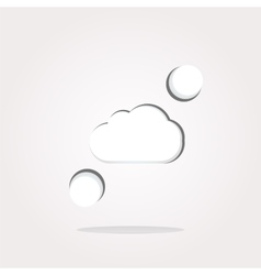 white cloud on internet icon icon vector image