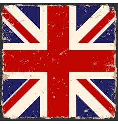 grunge British flag vector image