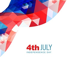 abstract american independence day vector image