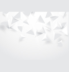 abstract white triangles 3d polygonal background vector image