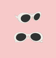 cat eye retro glasses eye wear vector image