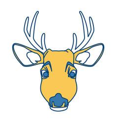 cute reindeer cartoon vector image