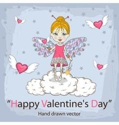 February holiday card vector