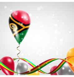 Flag of Vanuatu on balloon vector image vector image