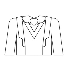 Full formal attire with tie vector