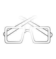 Glasses eyewear accesory vector