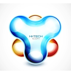 Hi-tech liquid abstract icon vector