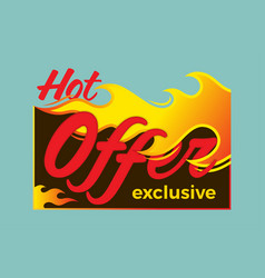 hot deal price sale offer deal labels stickers vector image vector image