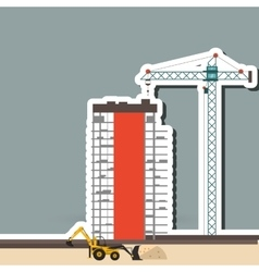 icon of under construction editable graphic vector image