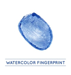 isolated watercolor fingerprin vector image