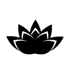 Lotus icon religion symbol vector