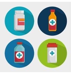 medicine bottle drug pills vector image