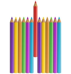 Pencils vector image
