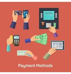 possibilities of payment methods vector image