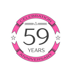 Realistic fifty nine years anniversary celebration vector