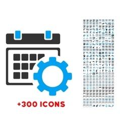 Schedule configuration icon vector
