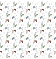 Seamless leaf pattern on a white background vector image