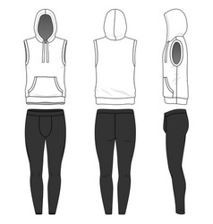 Sleeveless hoody and jogging pants vector
