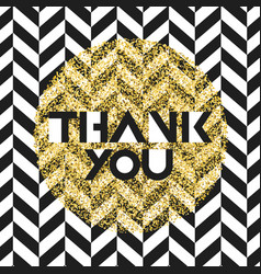 Thank you invitation card design template chevron vector