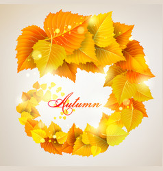 the leaves swirl vector image vector image