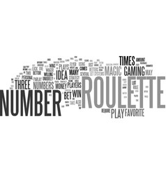 The magic roulette number text background word vector
