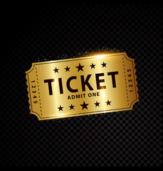 tickets and coupons templates vector image vector image