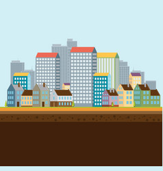 Urban landscape flat design vector