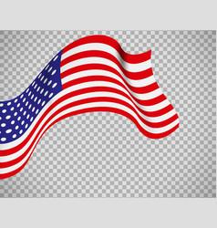 usa flag on transparent background vector image