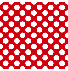 white circles on a red background seamless pattern vector image