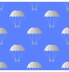Parachute seamless pattern extreme sport vector